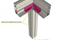 détail poteau structure